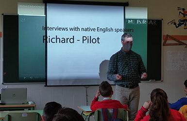 Entrevistas de los alumnos de 5º de primaria a nativos de habla inglesa