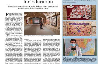 The San Estanislao de Kostka School joins the Global Action Week for Education 2021