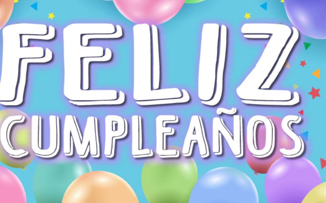 Tercera fiesta de cumpleaños en E. Infantil