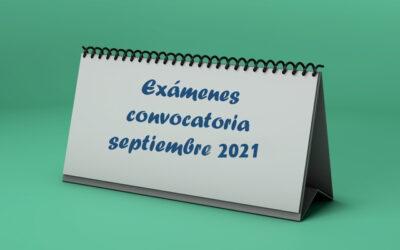 Calendario de exámenes de septiembre