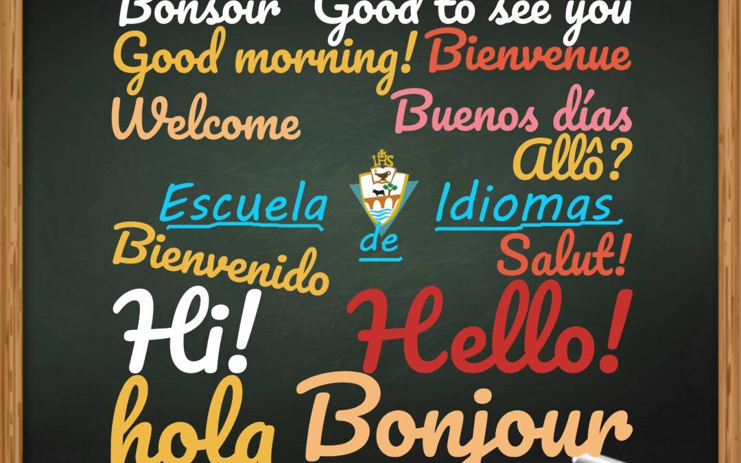 Escuela Idiomas. Inglés y Francés.