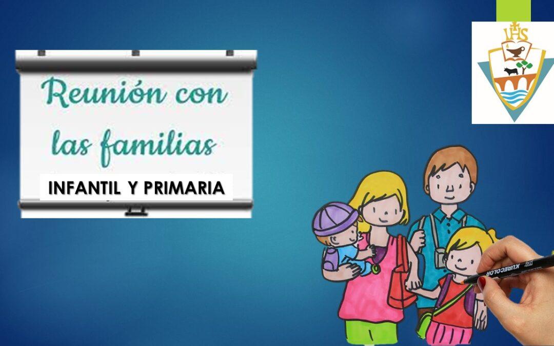 Primera reunión con familias Infantil y Primaria 21-22